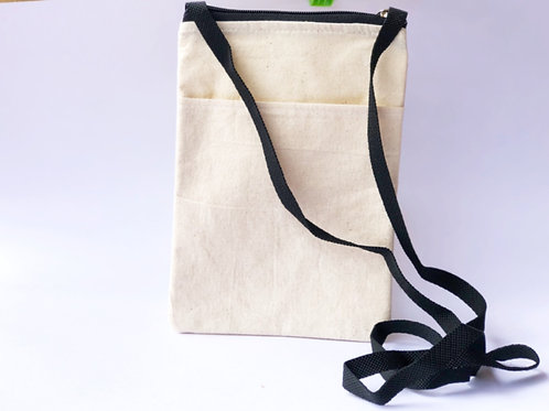 Canvas Sling Bag with Black Strap - Canvas product