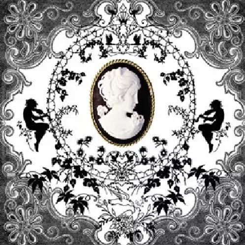 Cameo Black And White - Decoupage Napkin