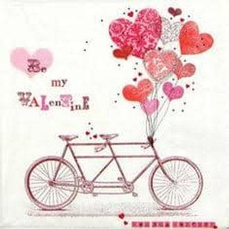 Be My Valentine - Decoupage Napkin
