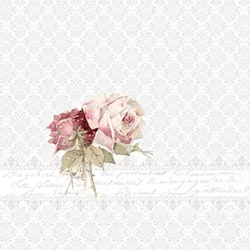 Rose With Border - Decoupage Napkin