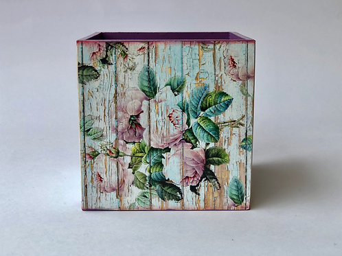 Vintage Lavender Theme - Decoupaged, Multipupose Holder