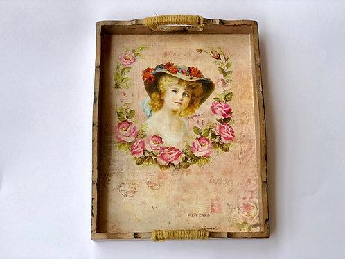 Vintage - Decoupaged Tray