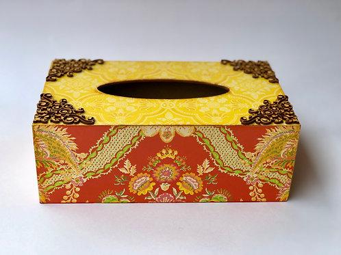 Decoupaged Tissue Box