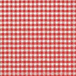 Red Squares - Decoupage Napkin