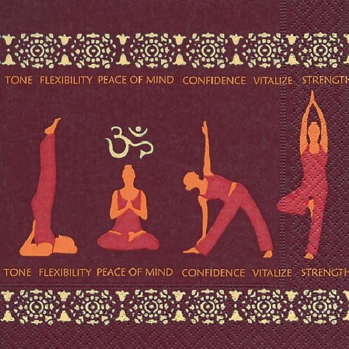 Yoga - Decoupage Napkin
