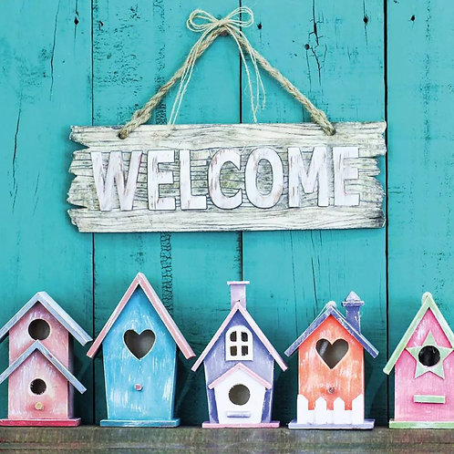 Welcome - Decoupage Napkin