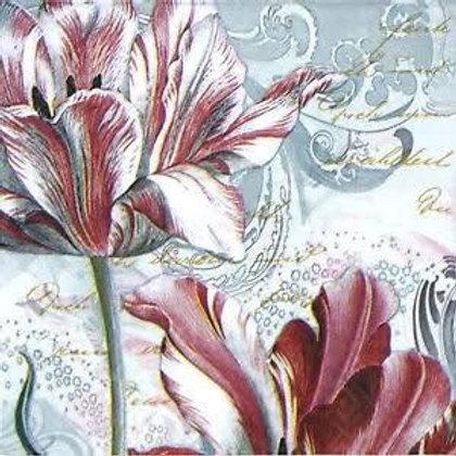 Wild Tulips - Decoupage Napkin