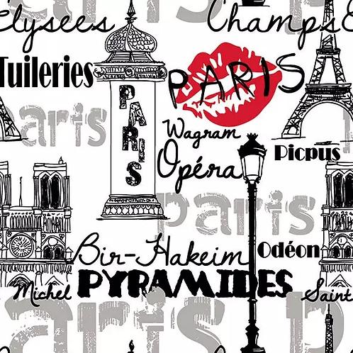 Parisian Neighbourhood - Decoupage Napkin