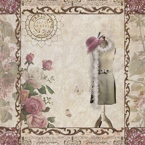 Mannequin - Decoupage Napkin