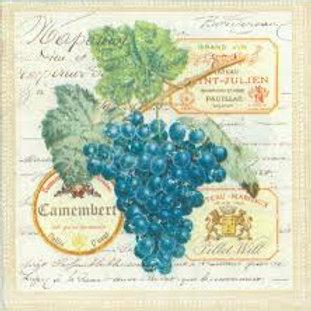 Grape Yard - Decoupage Napkin