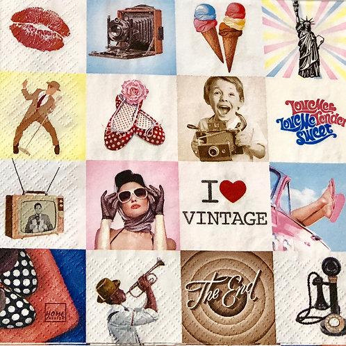 I Love Vintage - Decoupage Napkin