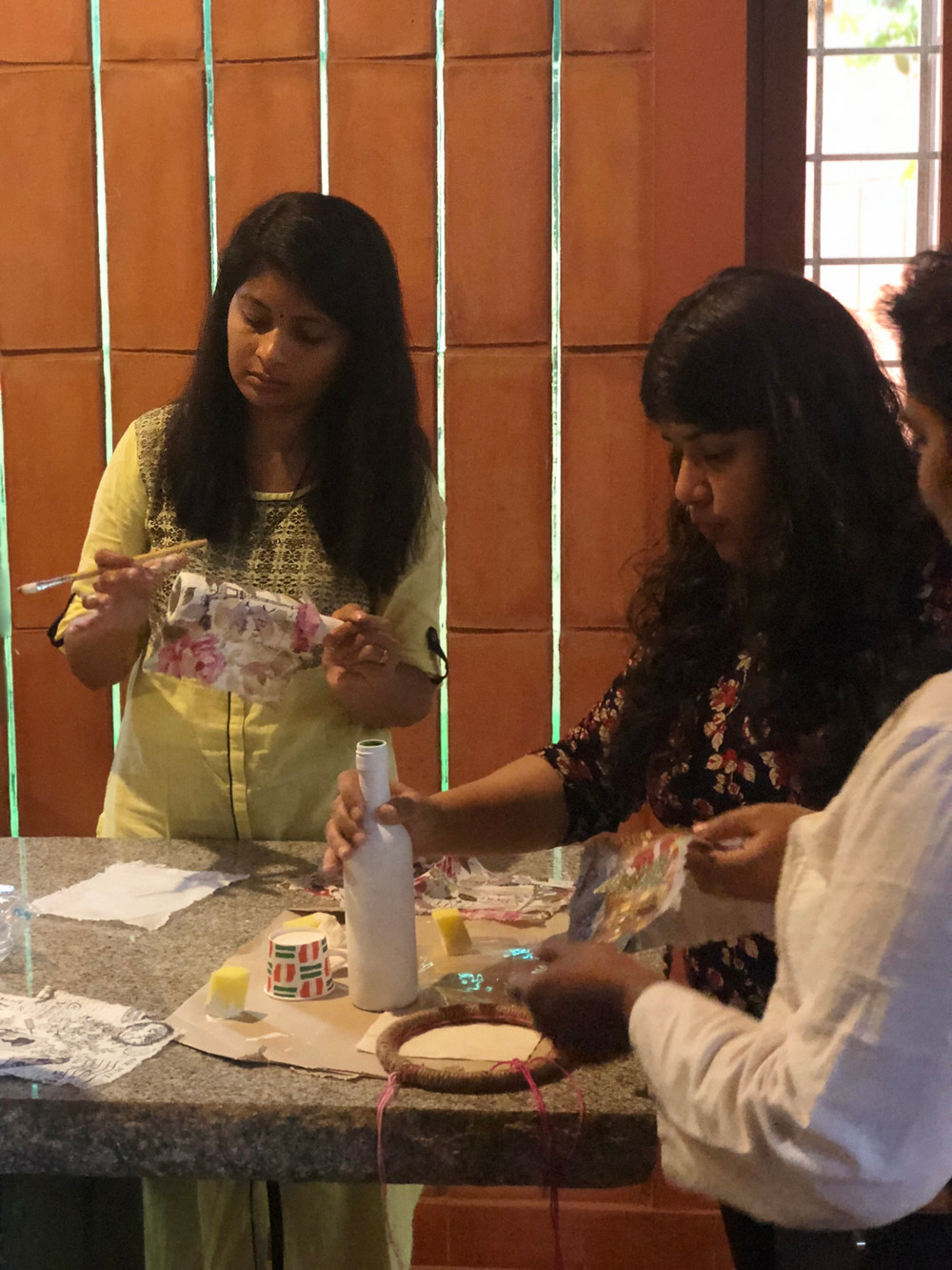 Nargis Khan Taking Decoupage Class