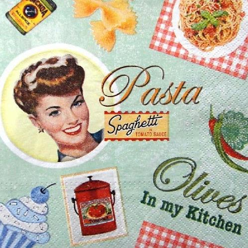 Pasta - Decoupage Napkin
