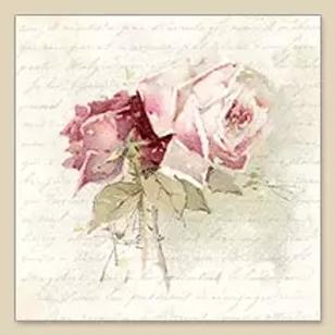 Rose Blend With Poem - Decoupage Napkin