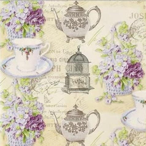 Tea time Vintage - Decoupage Napkin
