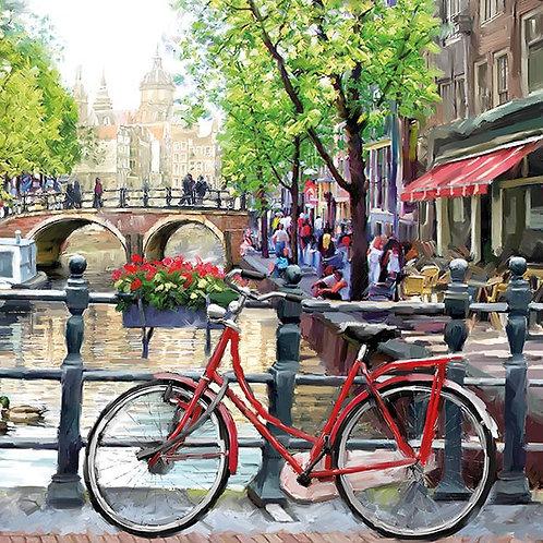 Amsterdam Canal - Decoupage Napkin