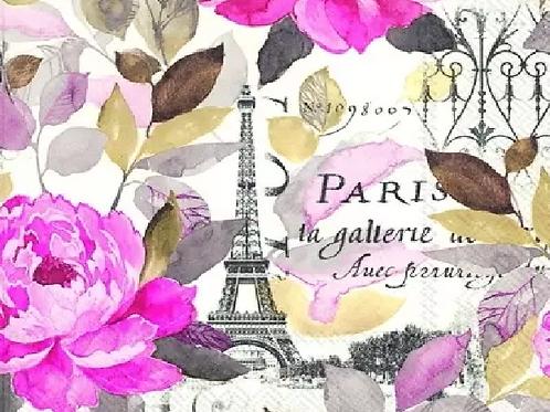 Jardin Paris - Decoupage Napkin