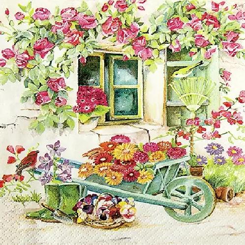 Back Yard Garden - Decoupage Napkin