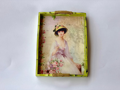 My Fair Lady Theme - Vintage Decoupaged Tray