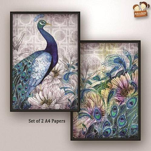 Peacock Theme, Set of 2 - Bob N Betty