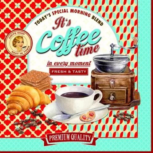 Its Coffee Time - Decoupage Napkin