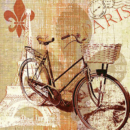 Old Fashioned Bicycle - Decoupage Napkin
