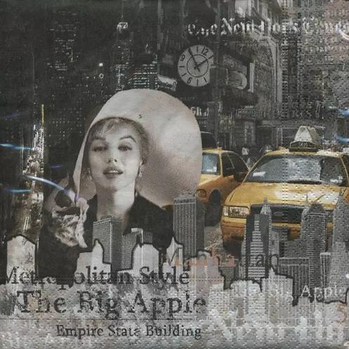 New York - Decoupage Napkin