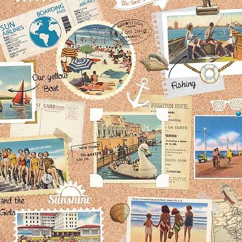 Vacation Scrap Book - Decoupage Napkin
