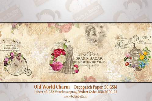 Old World Charm Theme, Decopatch Paper - Bob N Betty
