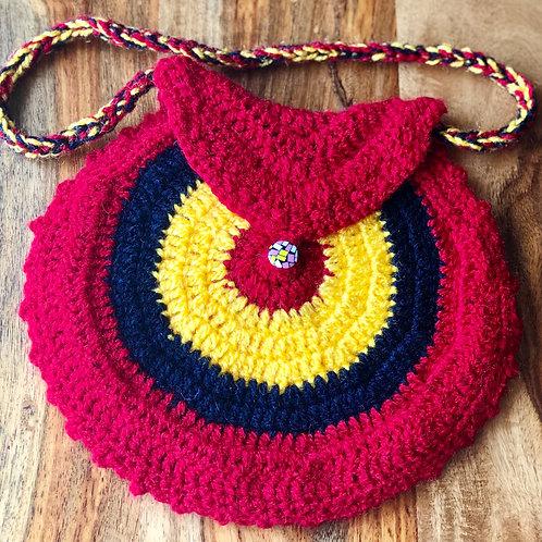 Round knitted crochet Handbag