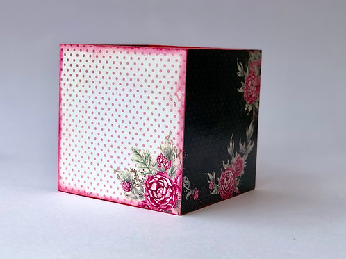 Pink Rose Theme - Decoupaged, Remote Control Holder