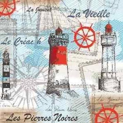 Sea Side Lighthouse - Decoupage Napkin