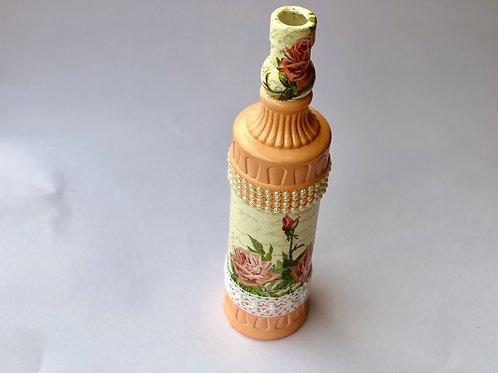 Decoupaged Bejeweled  Bottle