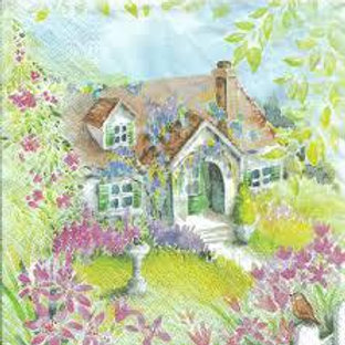 Countryside House - Decoupage Napkin