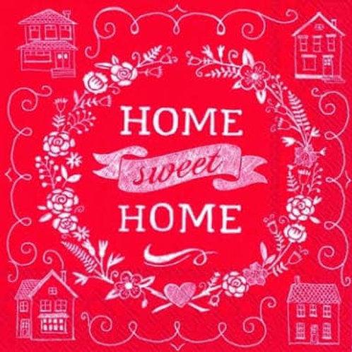 Home Sweet Home - Decoupage Napkin