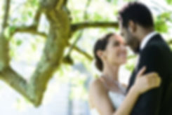 husband & wife post wedding - couple under tree