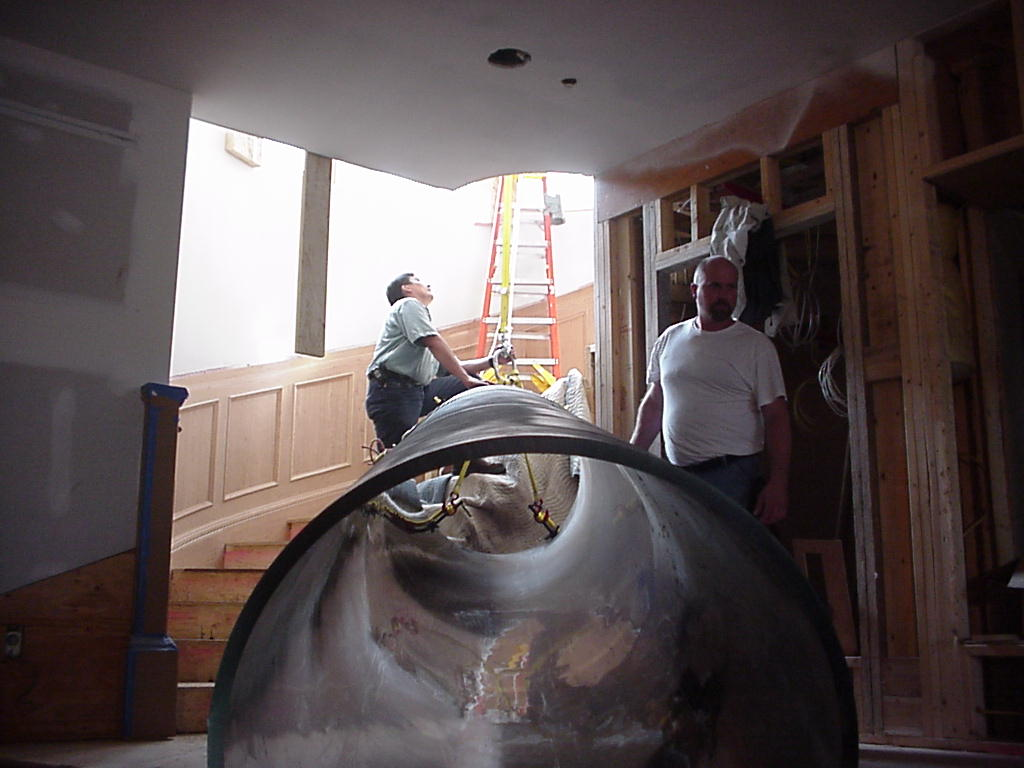 Installation of 2 story cylinder