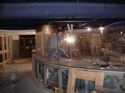 Early Aquarium Exhibit Construction