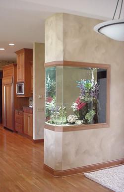 Faceted Room Divider Aquarium