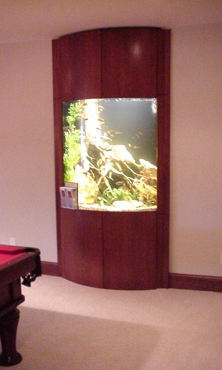 Alcove Bowfront Aquarium