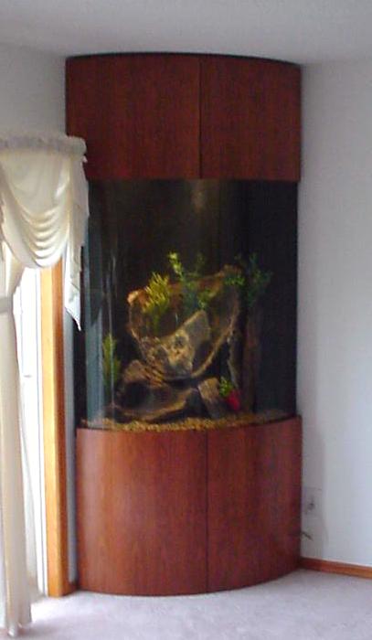 Quarter Cylinder Corner Aquarium