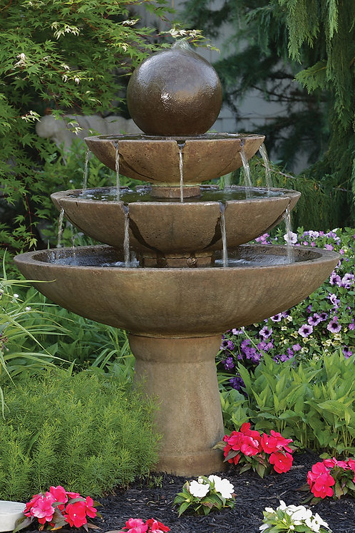 "55"" Tranquillity Sphere Spill Fountain"