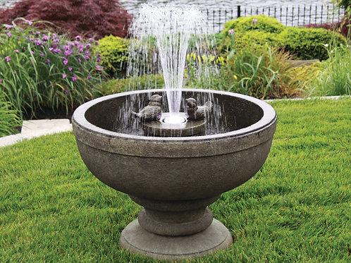 """26"""" Fleur De Lis Bird Fountain (Light Up)"""