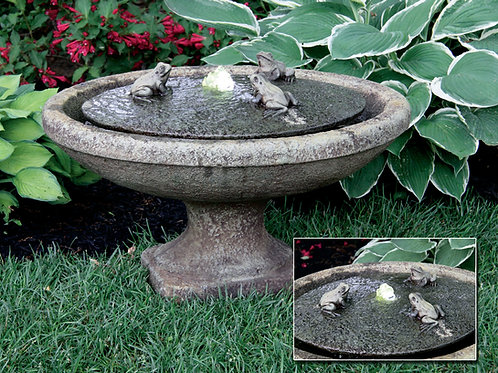 Garden Frogs Oval Fountain (Light Up)