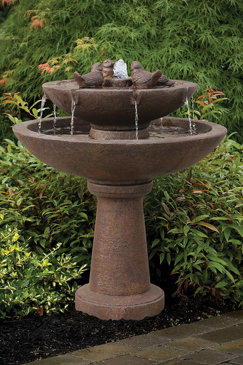 "39"" Tranquillity Spill Fountain With Birds"