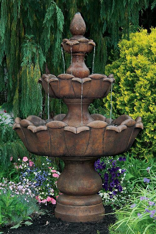 """80"""" Three Tier Petal Leaf Fountain"""