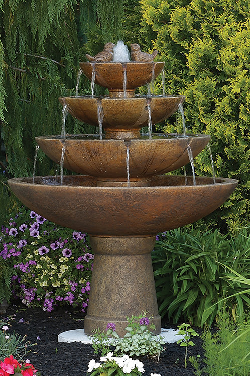 "53"" Tranquillity Spill Fountain With Birds"