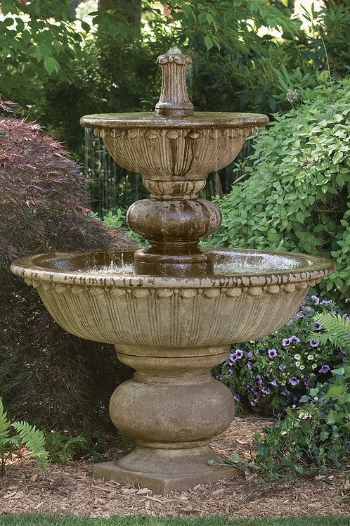 "67"" Florentine Fountain With Globed Pedestal"