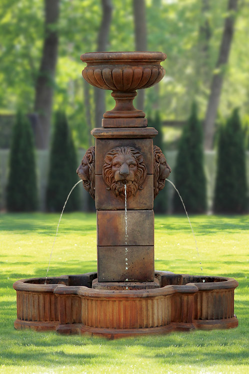 "58"" Milano Urn Lion Fountain"