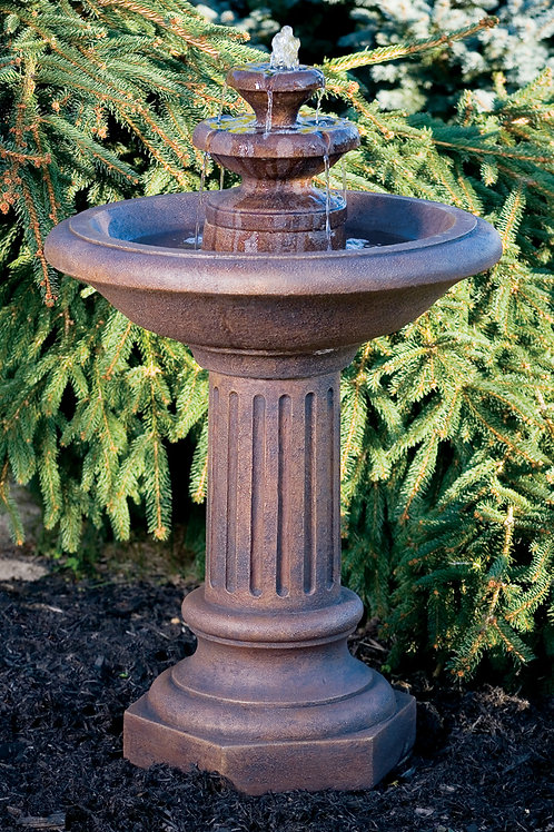 "38"" Roman Fluted Fountain"